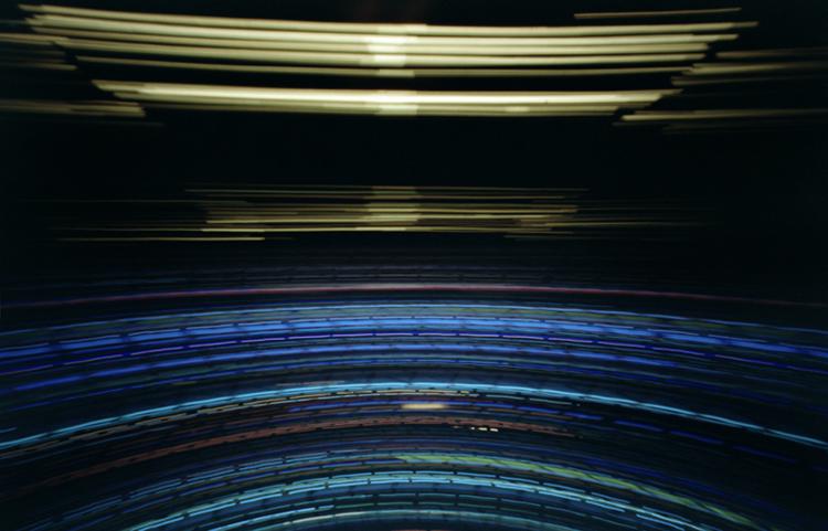 Auckland - Camera Obscura, Langzeitbelichtung, Drehturmrestaurant, Fernsehturm, Lochkamera, Karen Stuke, Sky Tower, City Lights, Lichter der Großstadt, Pinhole Camera, Zeit, long exposure, Photo, Foto, pigment print,  TV Tower