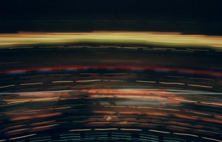 Berlin - Camera Obscura, Langzeitbelichtung, Drehturmrestaurant, Fernsehturm, Lochkamera, Karen Stuke, City Lights, Alex, Lichter der Großstadt, Pinhole Camera, Zeit, Foto, Photo, Pigment Print