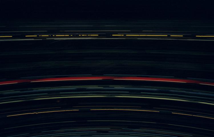 Frankfurt - Camera Obscura, Frankfurt am Main, Langzeitbelichtung, Drehturmrestaurant, Henninger Turm, Lochkamera, Karen Stuke, City Lights, Lichter der Grossstadt, Pinhole Camera, Zeit, Fotografie