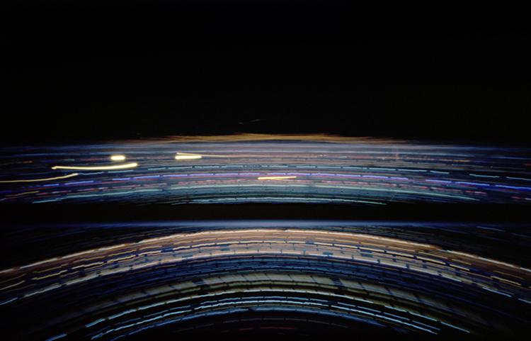 Las Vegas - Camera Obscura, Langzeitbelichtung, Drehturmrestaurant, Fernsehturm, Lochkamera, Karen Stuke, City Lights, Lichter der Großstadt, Stratosphere, Pinhole Camera, Zeit,