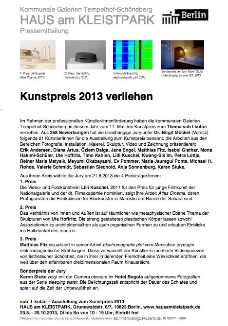 Kunstpreis 2013